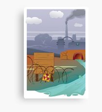 Zombies and toxic waste - Illustration  Canvas Print