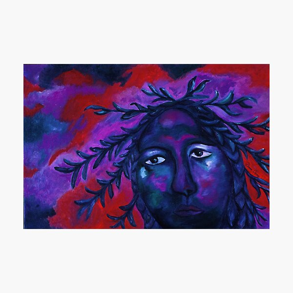 Mother Watching All - Crimson & Violet Compassion  Photographic Print