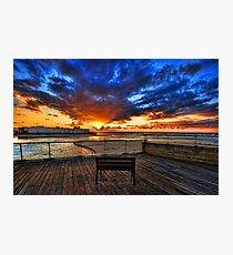 The bench is waiting for ya ! Photographic Print