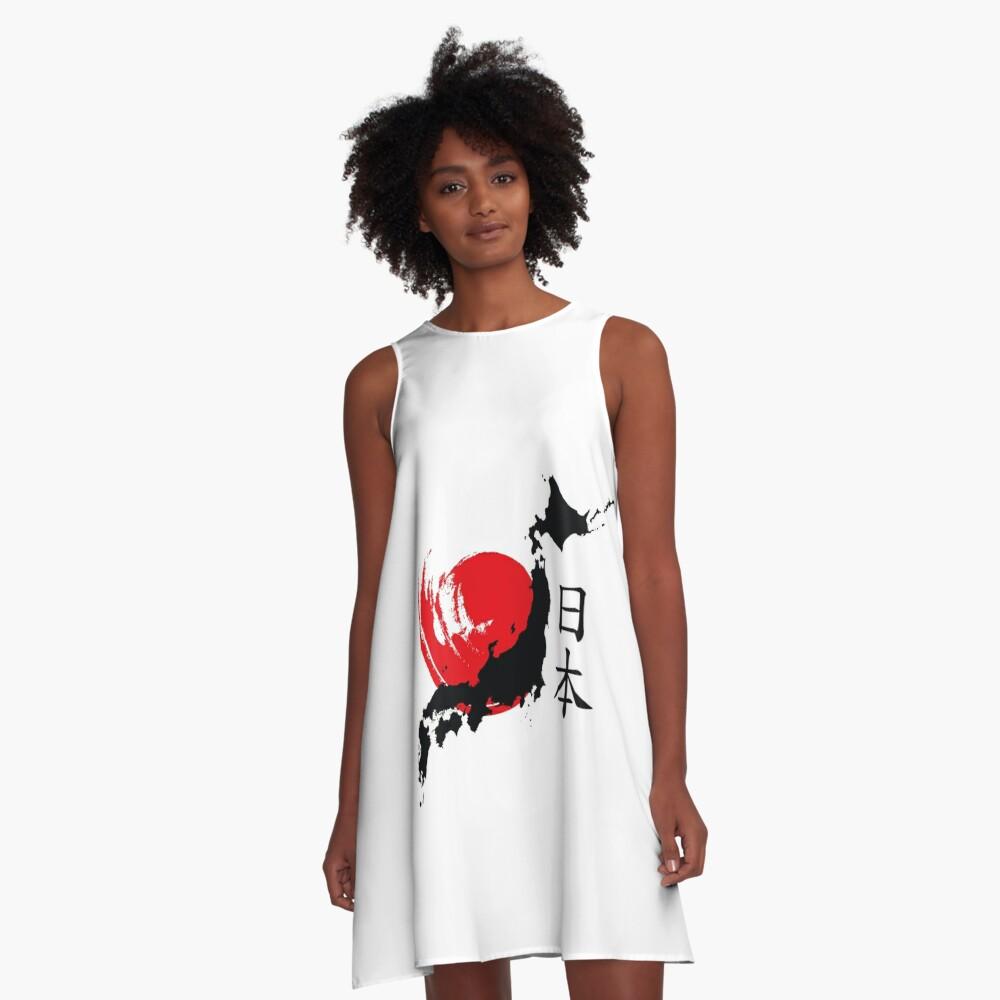 Japan A-Linien Kleid