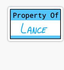 Property of Lance Sticker