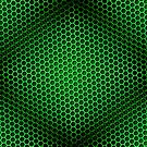 Honeycomb Background Seamless Green by Henrik Lehnerer