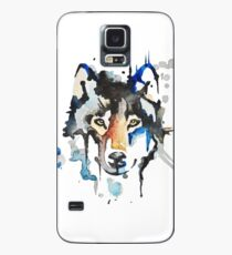 Watercolour Wolf Case/Skin for Samsung Galaxy