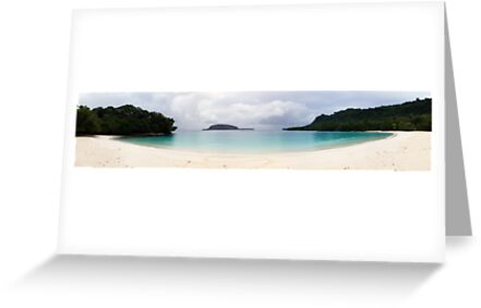 Champagne Beach Panorama by Ben Grant
