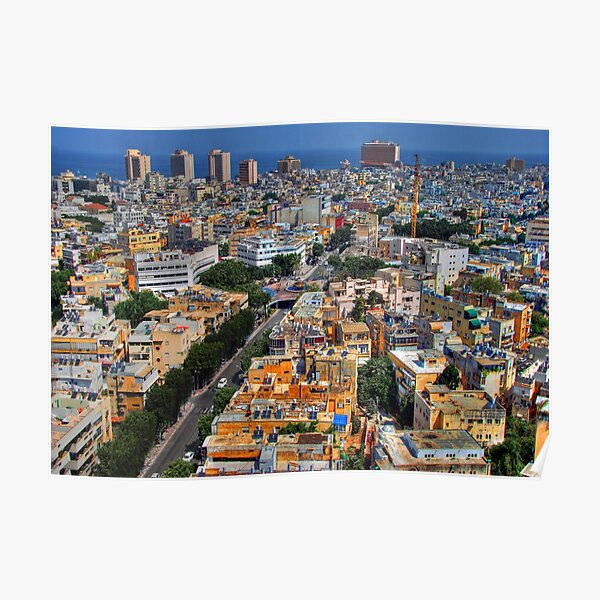 Tel Aviv Eagle Eye City View Poster