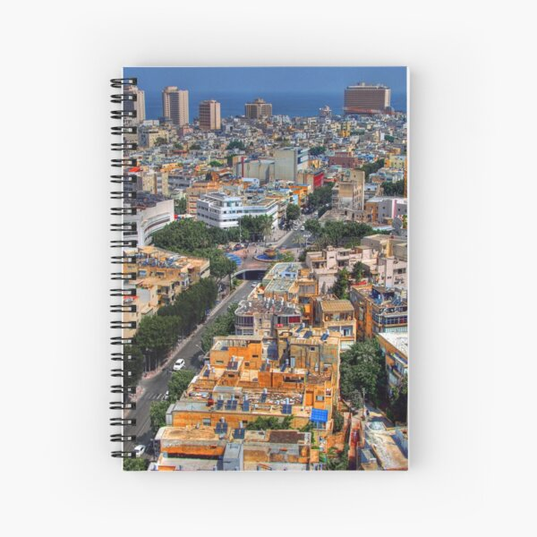 Tel Aviv Eagle Eye City View Spiral Notebook