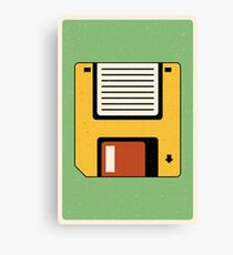 Floppy Disc | Tech | Retro Art Canvas Print