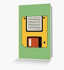 Diskette Tech | Retro Kunst Grußkarte