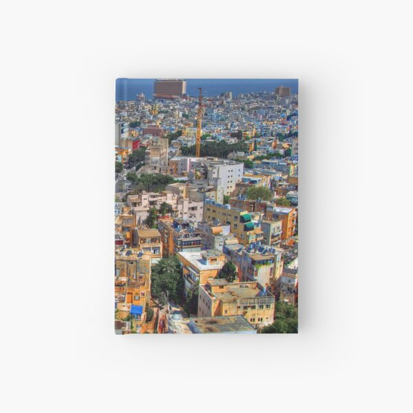 Tel Aviv Eagle Eye City View Hardcover Journal