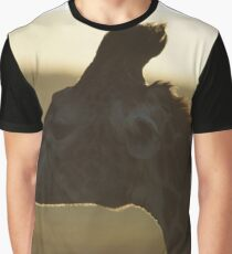 Giraffe in the sunrise  Graphic T-Shirt