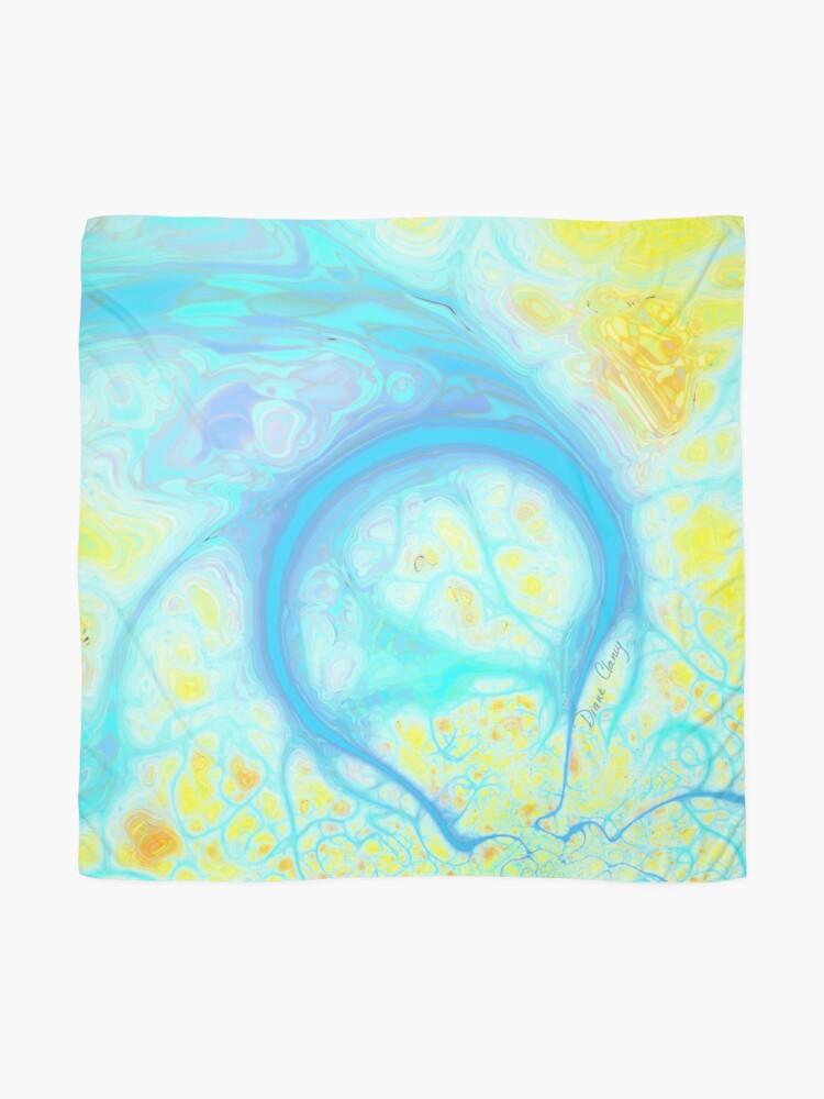 Alternate view of Streams of Joy - Cosmic Aqua & Lemon Scarf