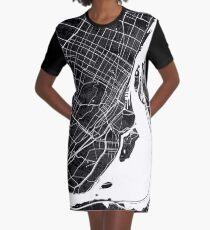 Montreal | Canada | City Map | Minimalism Graphic T-Shirt Dress