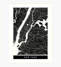 New York | United States | City Map | Minimalism Art Print