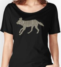 Word Cloud Wildlife: Pictus (African Wild Dog) Women's Relaxed Fit T-Shirt
