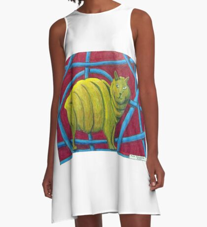404 - MICHELIN MANX - DAVE EDWARDS - COLOURED PENCILS - 2014 A-Line Dress