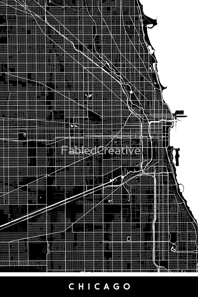 Chicago | United States | City Map | Minimalism by FabledCreative