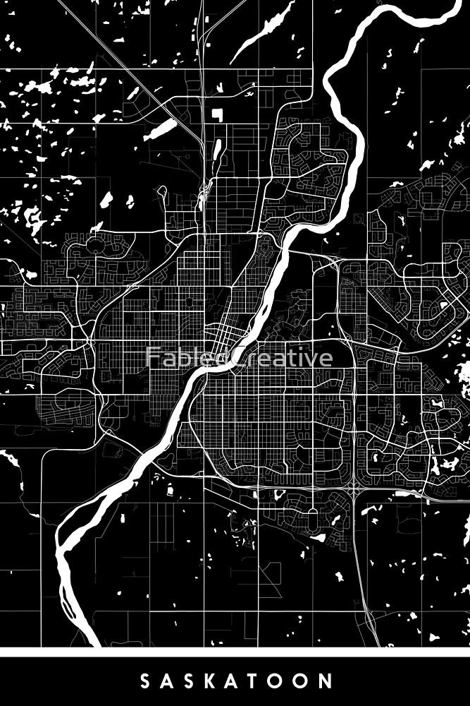 Saskatoon | Canada | City Map | Minimalism by FabledCreative