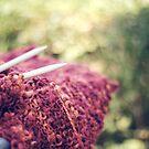 Morning knitting by Karin Elizabeth