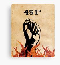 Fahrenheit 451 - Ray Bradbury Metal Print