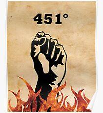 Fahrenheit 451 - Ray Bradbury Poster