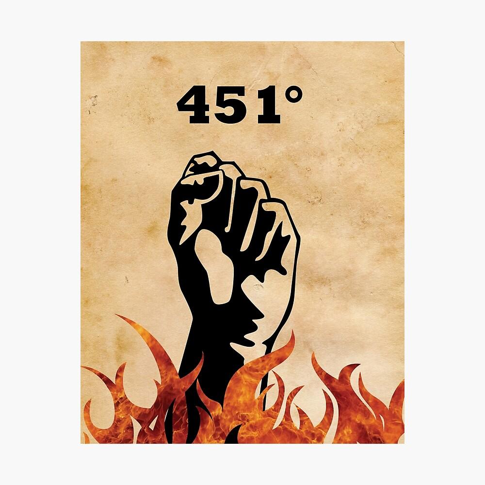 Fahrenheit 451 - Ray Bradbury Fotodruck
