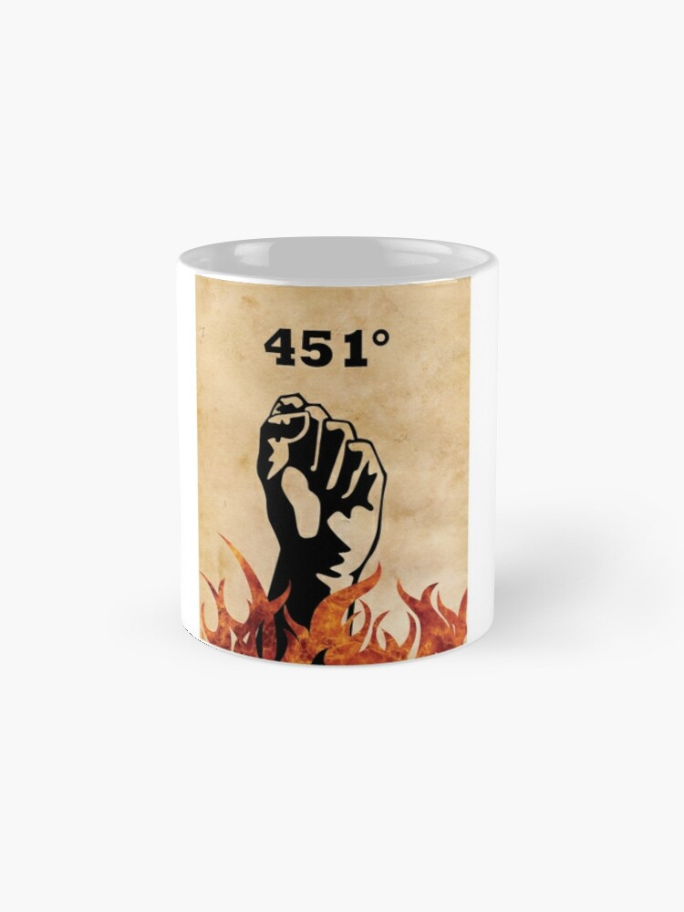 Vista alternativa de Taza Fahrenheit 451 - Ray Bradbury