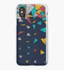 Flying paper planes  iPhone Case/Skin