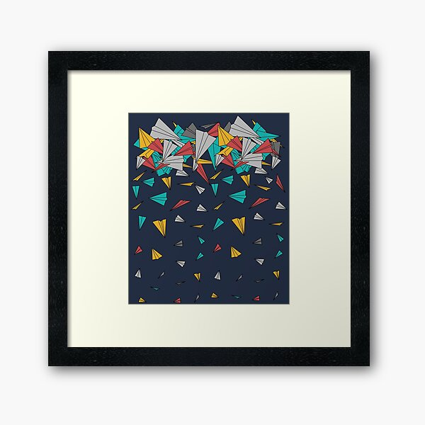 Flying paper planes  Framed Art Print