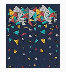Flying paper planes  Photographic Print