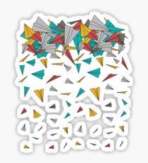 Pegatina Aviones de papel volador