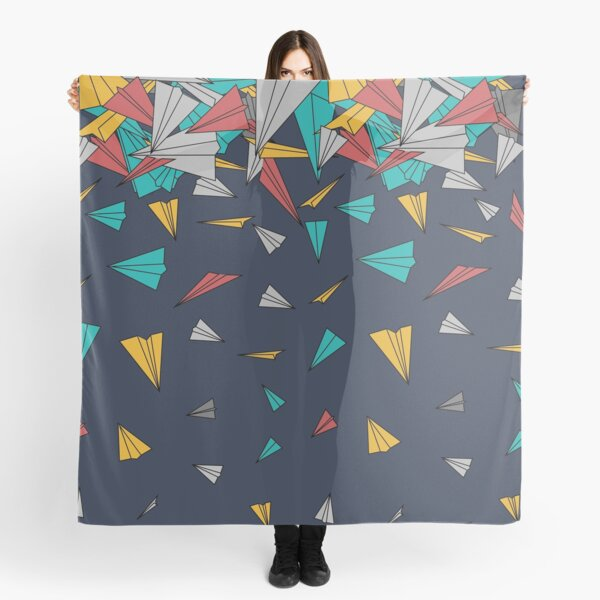 Flying paper planes  Scarf