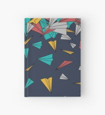 Flying paper planes  Hardcover Journal