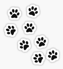 Animal footprint - black Sticker