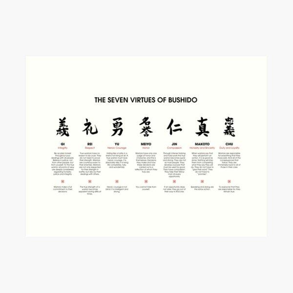 The 7 Virtues of Bushido Art Print