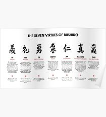 The 7 Virtues of Bushido Poster