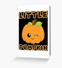 Cute Halloween Pumpkin Wink Smiley Face Emoji Boys Girls Greeting Card