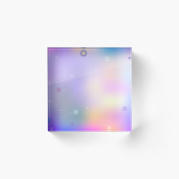 Bright colorful abstract print Acrylic Block
