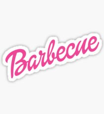 Funny Barbie Barbecue T-shirt Sticker