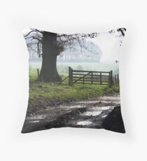 Icy Bridleway Throw Pillow