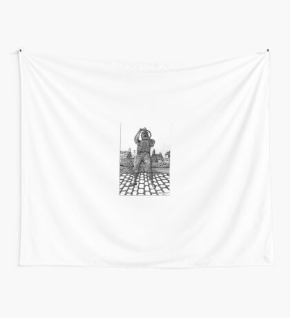 259 - WILLIE CARR - 02 - DAVE EDWARDS - INK - 2015 Wall Tapestry