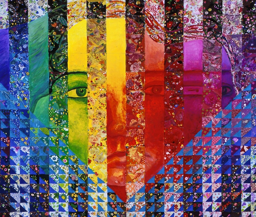 Conundrum I - Rainbow Woman by Diane Clancy