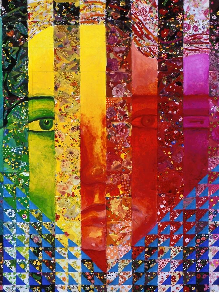 Conundrum I - Rainbow Woman by dianeclancy