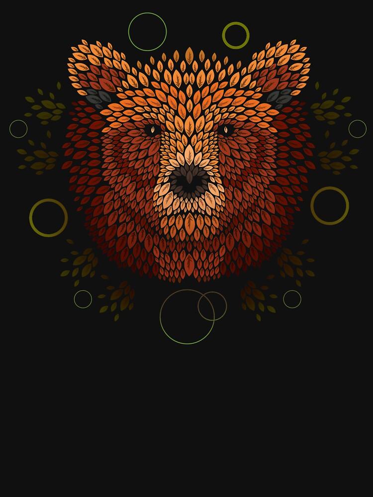 Cara de oso de Letter-Q