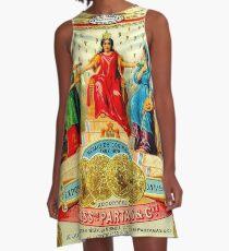 CUBAN CIGAR; Vintage Advertising Awards Print A-Line Dress