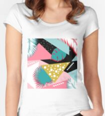 pink pattern  Women's Fitted Scoop T-Shirt