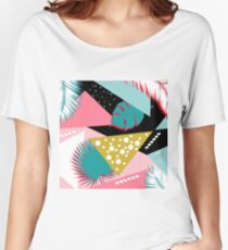pink pattern  Women's Relaxed Fit T-Shirt