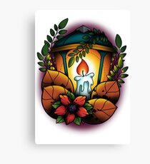 Neotraditional candle lantern Canvas Print