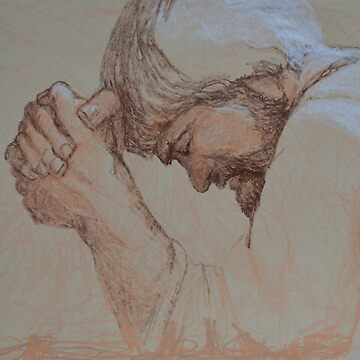 A Man Of Sorrows And Acquainted With Grief - Jesus Praying by NANCYMAUERMAN