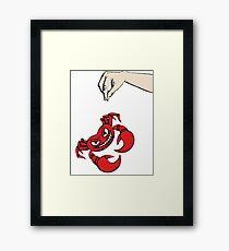 Brave crab... Framed Print