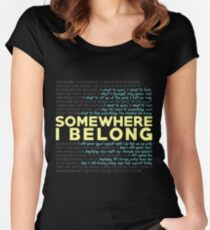 Somewhere I Belong - Linkin Park Women's Fitted Scoop T-Shirt